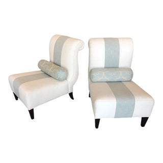 Barbara Barry Slipper Chairs - a Pair For Sale