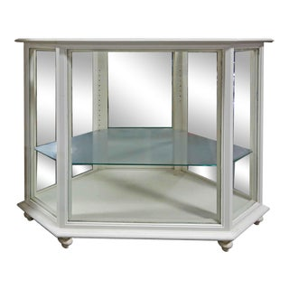20th Century Traditional White Display Case