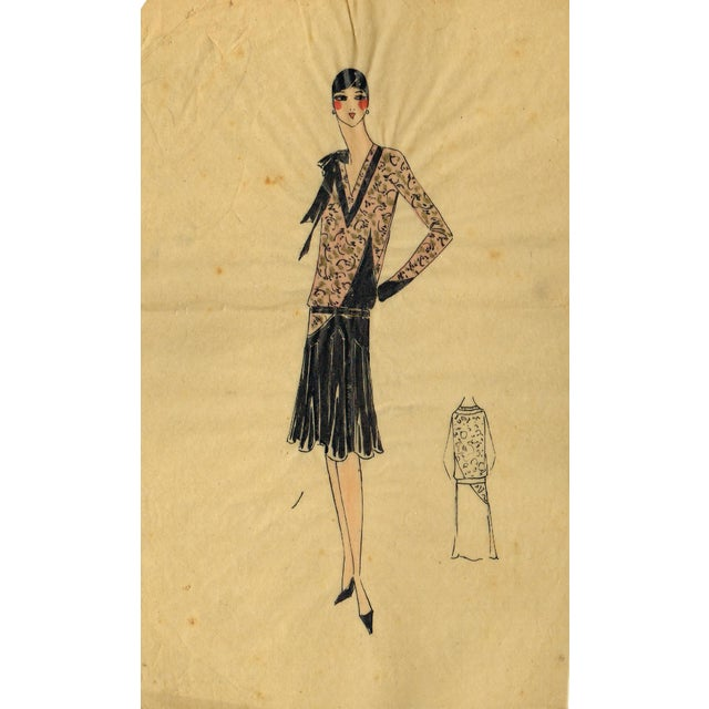 Original Parisian Fashion Watercolor - Image 1 of 2