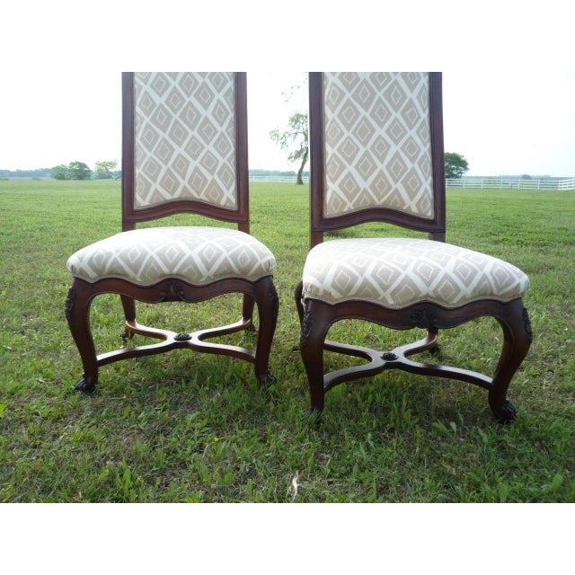 Khaki Henredon Vintage Host/Hostess Dining Chairs- A Pair For Sale - Image 8 of 9