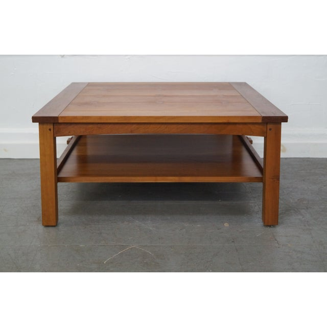 Stickley Cherry Mission Style Square Coffee Table - Image 2 of 10