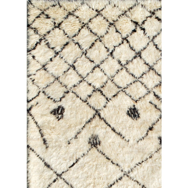 "Moroccan Lamb's Wool Rug- 6' X 9 2"" - Image 2 of 2"