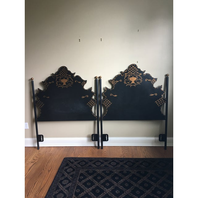 Traditional Headboards - a Pair For Sale - Image 9 of 9