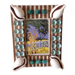 Organic Modern Tibetan Turquoise Shell Photo Frame