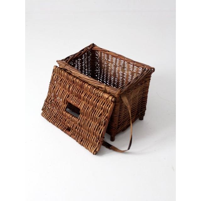 Antique Wicker Fishing Basket - Image 10 of 11
