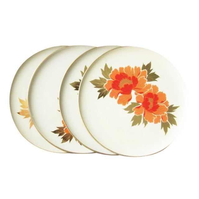 Vintage Otagiri Floral Plates- Set of 4 - Image 1 of 6