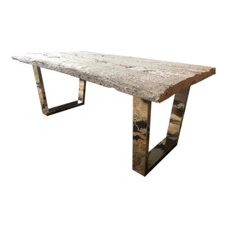 Contemporary Barnyard Wood Coffee Table For Sale