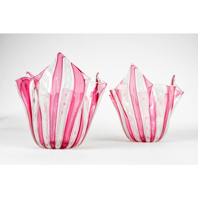 Murano Murano Art Deco Vases - A Pair For Sale - Image 4 of 11