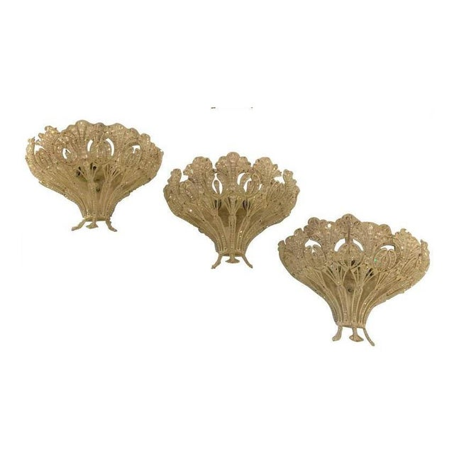 Schonbek Renaissance Style Wall Sconces - Set of 3 For Sale