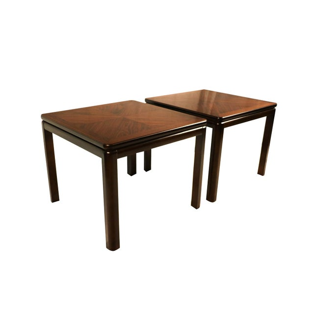 An exquisite pair of rosewood end tables by Lane Furniture Co. remains in beautiful condition throughout. Featuring...