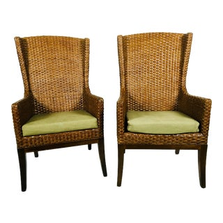 Mid-Century Inspired Wing Back Chairs – a Pair For Sale