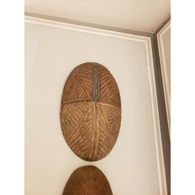African Dissimilar Decorative African Shields - Set of 2 For Sale - Image 3 of 8