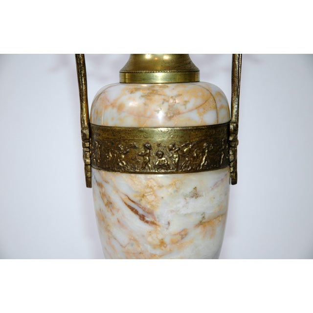 Pink Marble Urns - A Pair - Image 5 of 7
