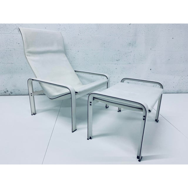 "Matteo Grassi Leather ""Sistina"" Lounge Chair and Foot Stool, Vintage 1980s For Sale - Image 13 of 13"