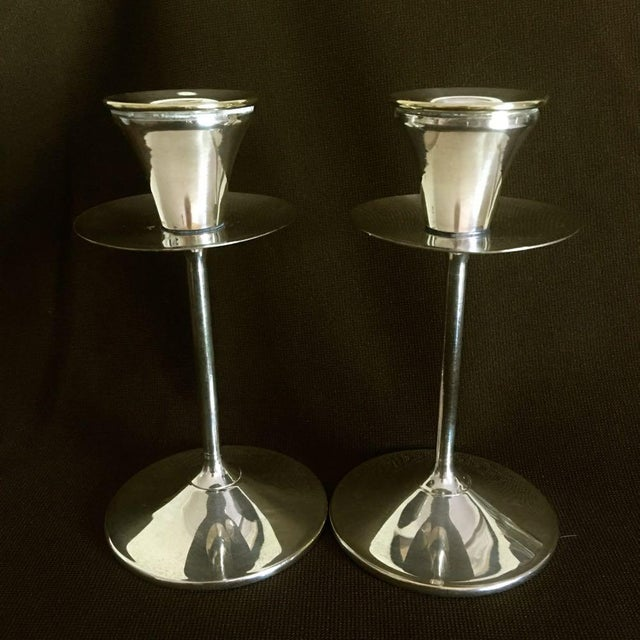 Vintage Spanish Silver Plated Stemware Candlesticks - 26 Pieces For Sale In Raleigh - Image 6 of 9