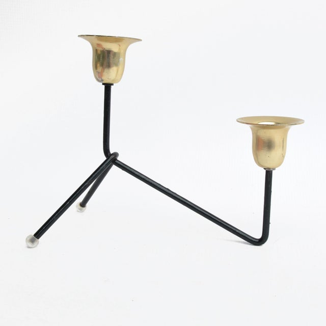 1970s Modernist Standing Candlestick, Belgium For Sale - Image 6 of 9