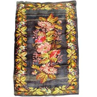 Rustic Floral Ukrainian Rug For Sale