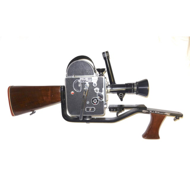 Custom Hand Built Wood Hunting Gunstock and Fitment Carraige and Handgrip For A Bolex Movie Camera. Built By The Famous Gunsmith Dale Williams . For Sale - Image 9 of 11