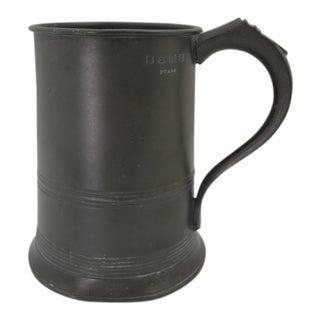 19th Century Victorian One Quart Pewter Tankard For Sale
