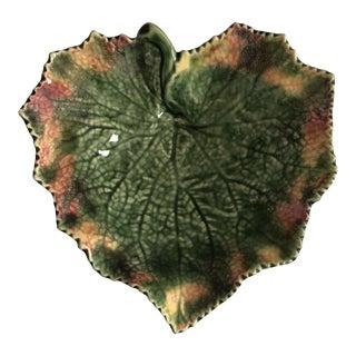 Mid 20th Century Bordallo Pinheiro Leaf Plate For Sale