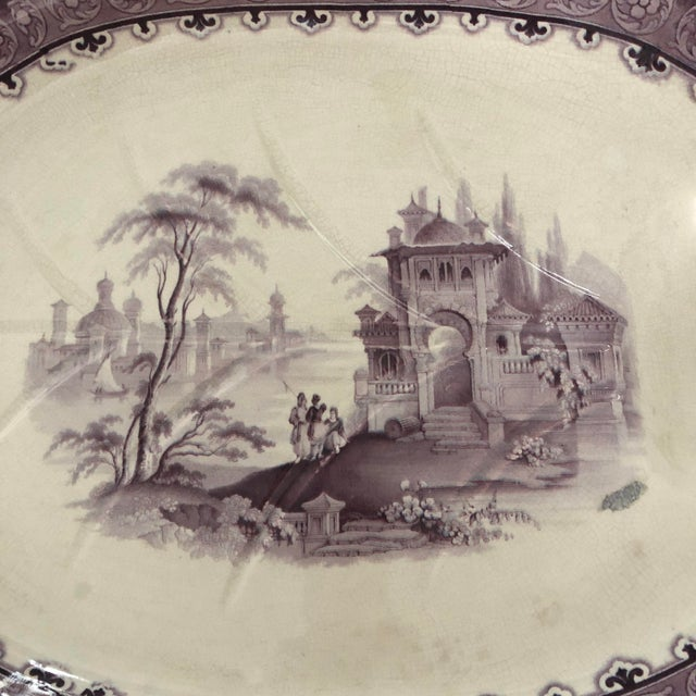 Traditional 19th C. English Large Well & Tree Staffordshire Platter For Sale - Image 3 of 5
