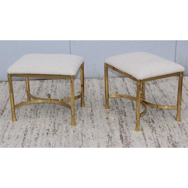 1970s Modern Italian Brass Ottomans For Sale - Image 4 of 11