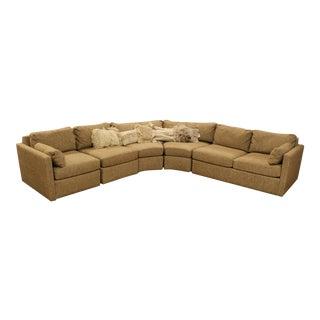 Mid Century Modern Curved 5 Piece Sofa Sectional Drexel Baughman Era