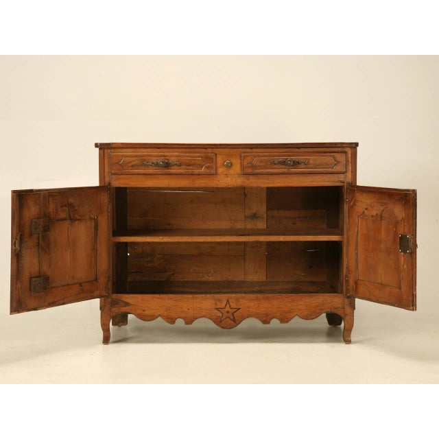 Brown Country French Antique Buffet For Sale - Image 8 of 10