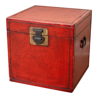 Chinese Red Trunk/Box For Sale