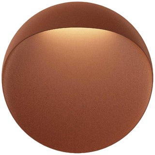 Small 'Flindt' Indoor or Outdoor Wall Light in Cortens Red for Louis Poulsen For Sale