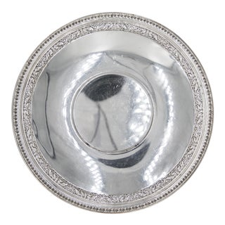 Vintage Reed & Barton Silver Plate Round Tray For Sale