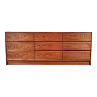 Danish Teak 9 Drawer Dresser For Sale