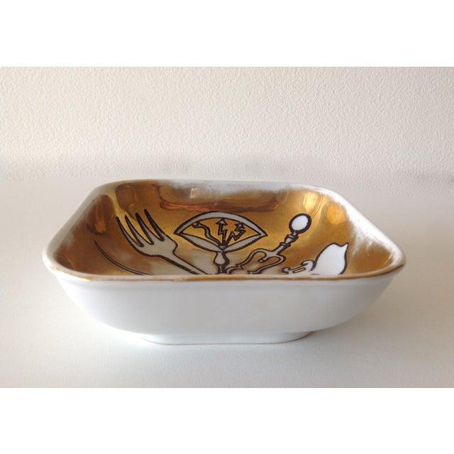 """Ceramic Piero Fornasetti """"Posateria"""" Accent Dish For Sale - Image 7 of 11"""
