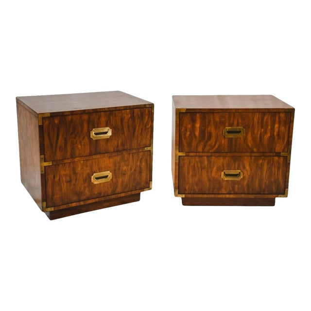 1960s Campaign Storage End Tables - a Pair For Sale
