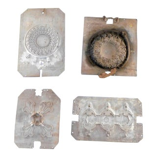 Vintage Industrial Casting Mold for Antique Electric Fan Parts - Set of 4 For Sale