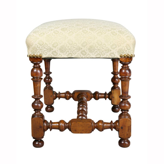 Early 18th Century Flemish Baroque Walnut Bench For Sale - Image 5 of 8