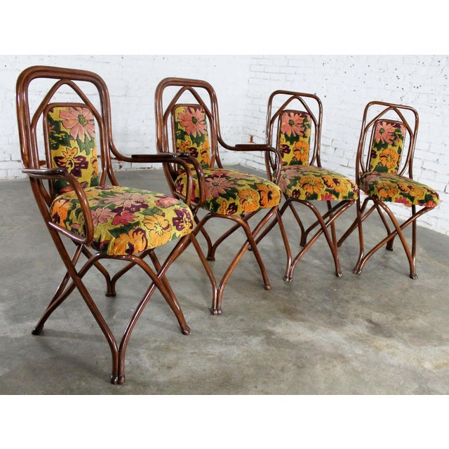 Gebruder Thonet Antique Gebruder Thonet Bentwood Chairs - Set of 4 For Sale - Image 4 of 11