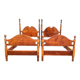 Antique Solid Pine Twin Beds- a Pair For Sale