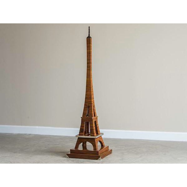 Art Deco Period Grand Scale Eiffel Tower of Rosewood, France c.1930. The sleek lines of Art Deco are perfectly realized in...