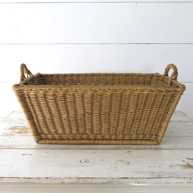 Vintage French Laundry Basket For Sale - Image 4 of 8