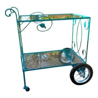 Vintage Salterini Style Serving Cart For Sale
