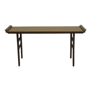 Asian Teak Console Table For Sale
