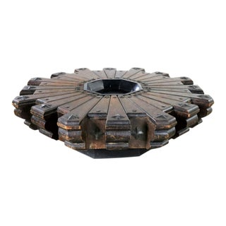 Vintage Spanish Revival Style Rustic Octagon Pinwheel Large Coffee Table Artes De Mexico Internacionales Sa For Sale