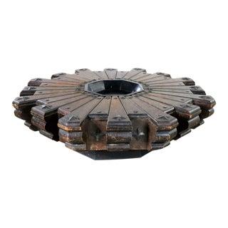 Vintage Spanish Revival Style Rustic Octagon Pinwheel Large Coffee Table Artes De Mexico Internacionales Sa