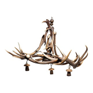 19th Century English Antler Chandelier For Sale