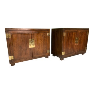 Henredon Double Door Cabinets or End Tables - Set of Two For Sale