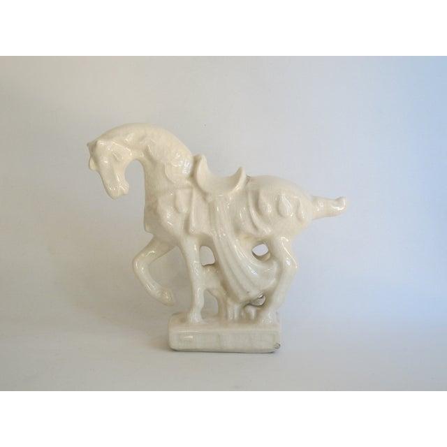 White Chinese Porcelain Horse - Image 3 of 8