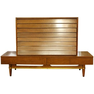 Mid-Century Modern Dania Dresser Bench Console Table Merton Gershun Martinsville