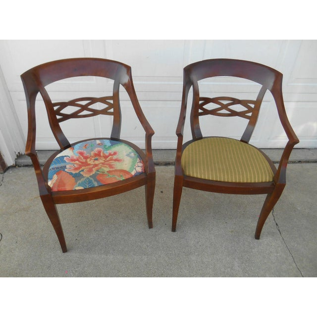 Vintage Baker Furniture Biedermeier Style Dining Chairs - A Pair - Image 2 of 7