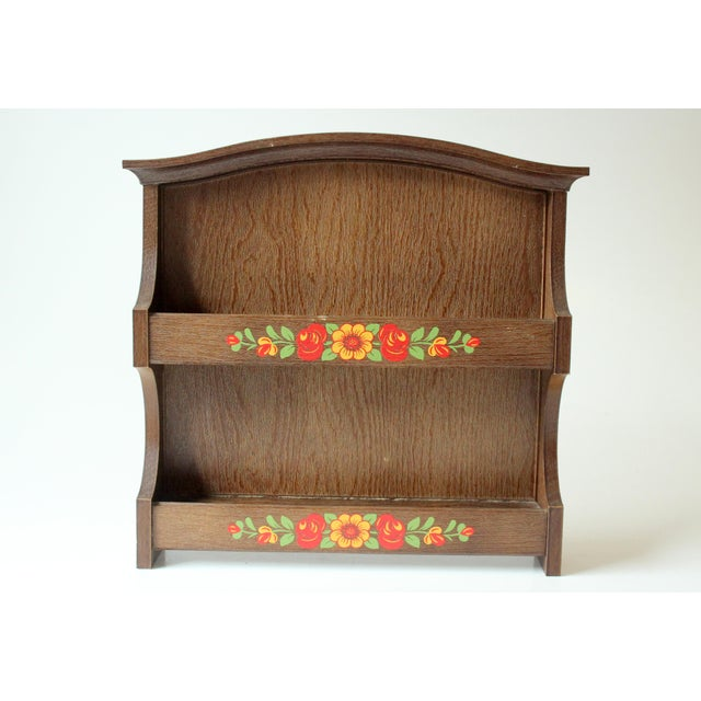 1980s 1980s Wooden Spice Rack Wall Shelf by Emsa in West Germany For Sale - Image 5 of 5